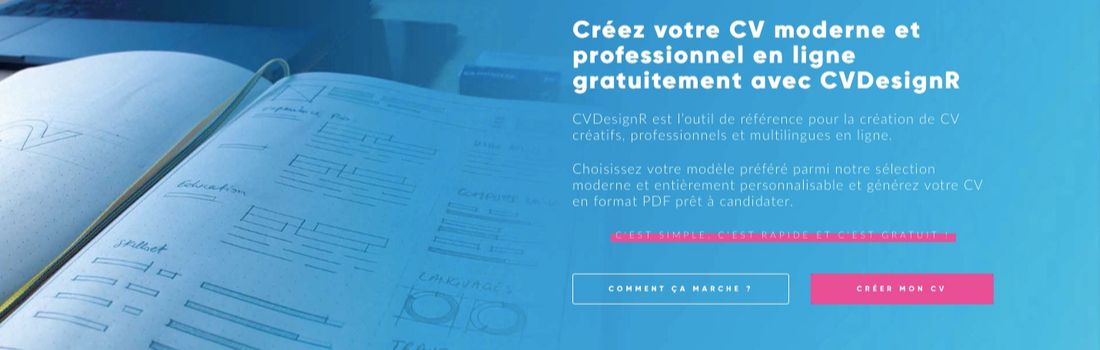 Screenshot de Cvdesignr.com