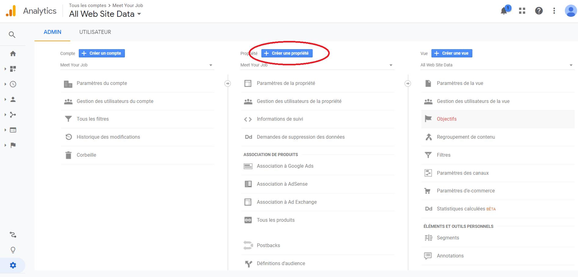 Comment ajouter un site sur google Analytics